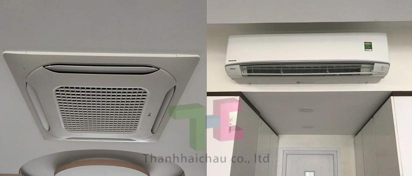 thiết kế điều hòa âm trần và máy lạnh treo tường