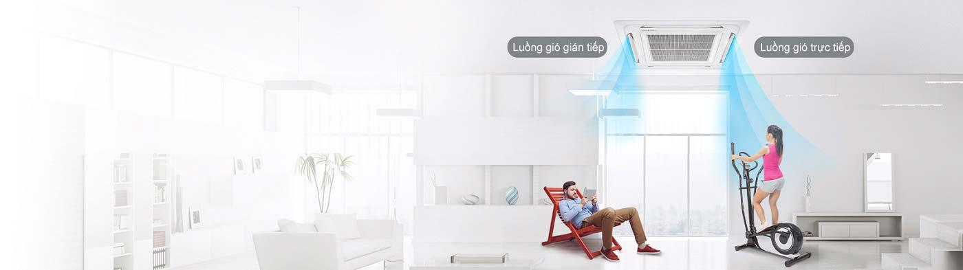 Máy lạnh âm trần LG ATNQ48LMLE6 5 HP - Điều khiển cánh quạt gió độc lập