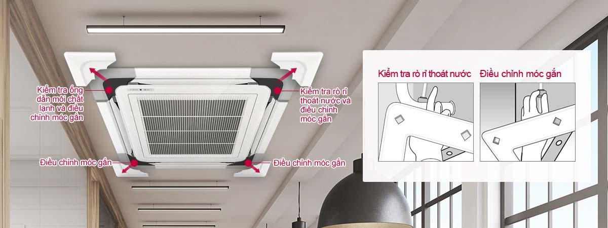 Máy lạnh âm trần LG ATNQ48LMLE6 5 HP - Lắp đặt mặt nạ thuận tiện
