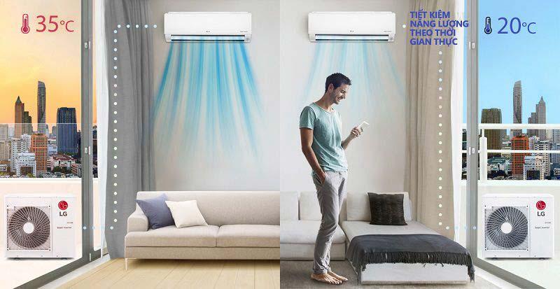 Dàn lạnh treo tường máy lạnh Multi LG AMNQ09GSJA0 1HP - Tiết kiệm điện năng