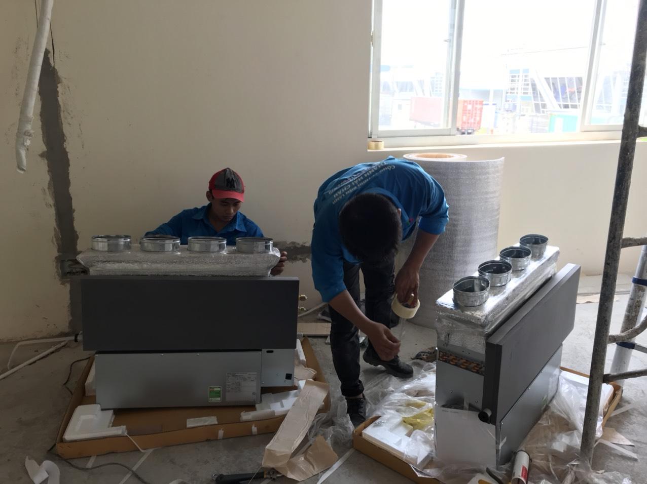 Thi công máy lạnh âm trần dẫn ống gió Daikin