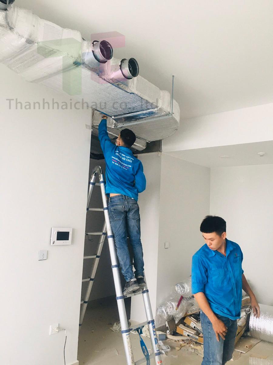 máy lạnh giấu trần ống gió căn hộ