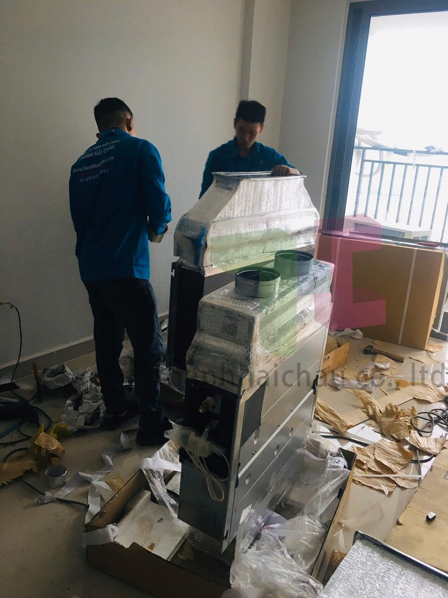 lắp máy lạnh giấu trần cho căn hộ