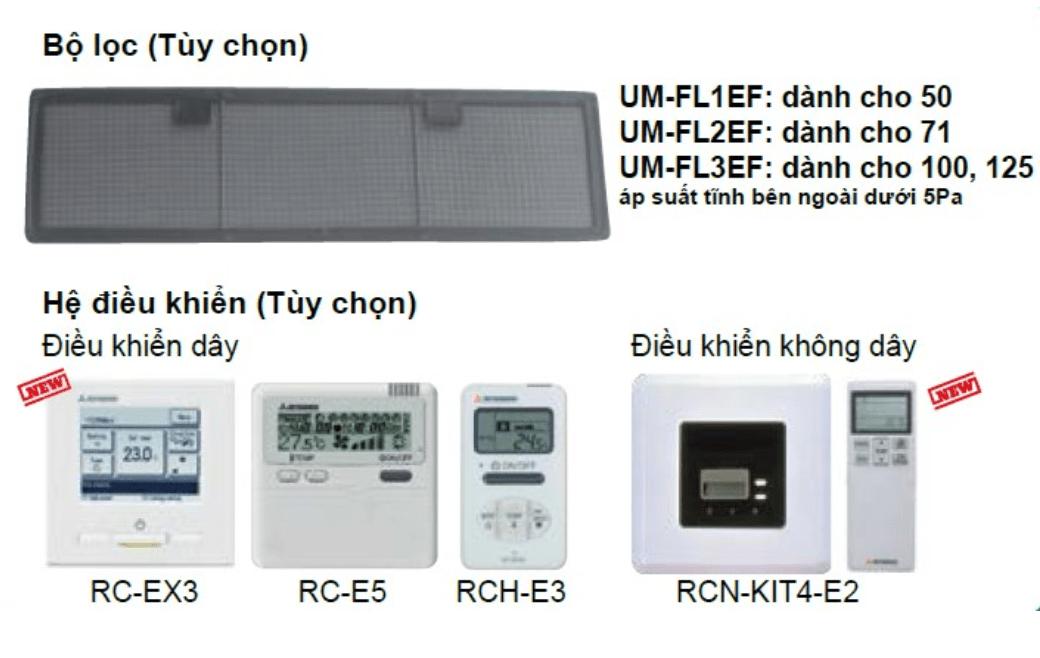 hệ điều khiển máy lạnh giấu trần mitsubishi