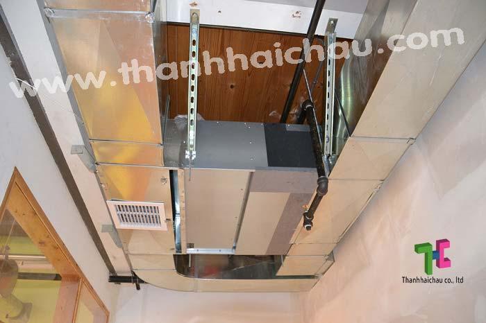máy lạnh giấu trần nối ống gió cho nhà xưởng