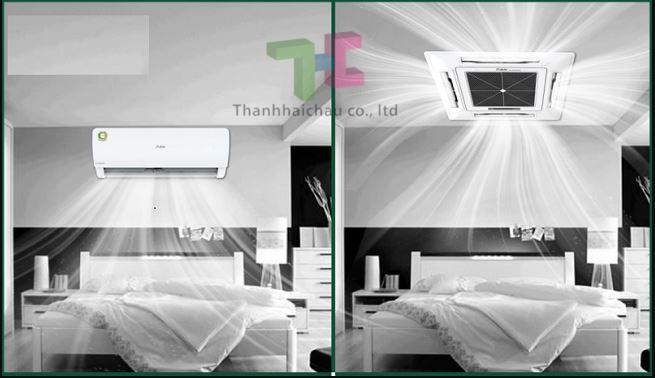 khả năng làm lạnh máy lạnh treo tường và điều hòa âm trần