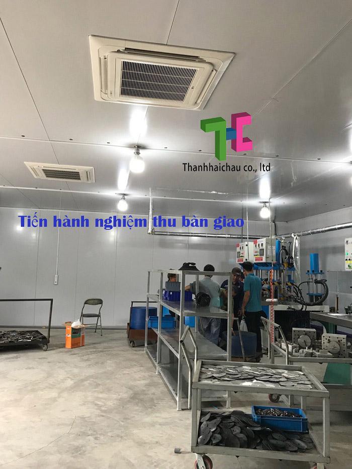 Hoàn thiện thi công máy lạnh âm trần cho nhà xưởng