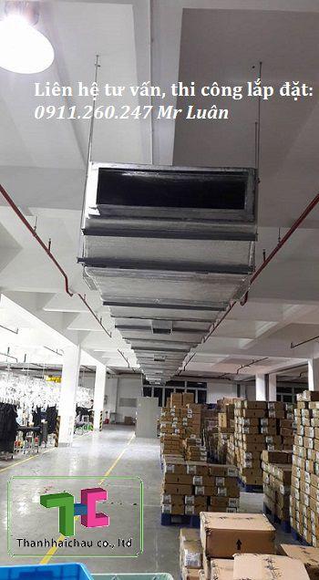 Lắp máy lạnh nối ống gió cho nhà xưởng