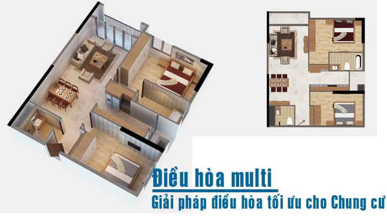 Điều hòa - máy lạnh Multi giải pháp tối ưu cho căn hộ chung cư
