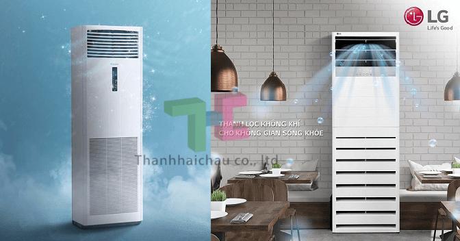 Nên lắp máy lạnh tủ đứng LG hay máy lạnh tủ đứng Daikin?