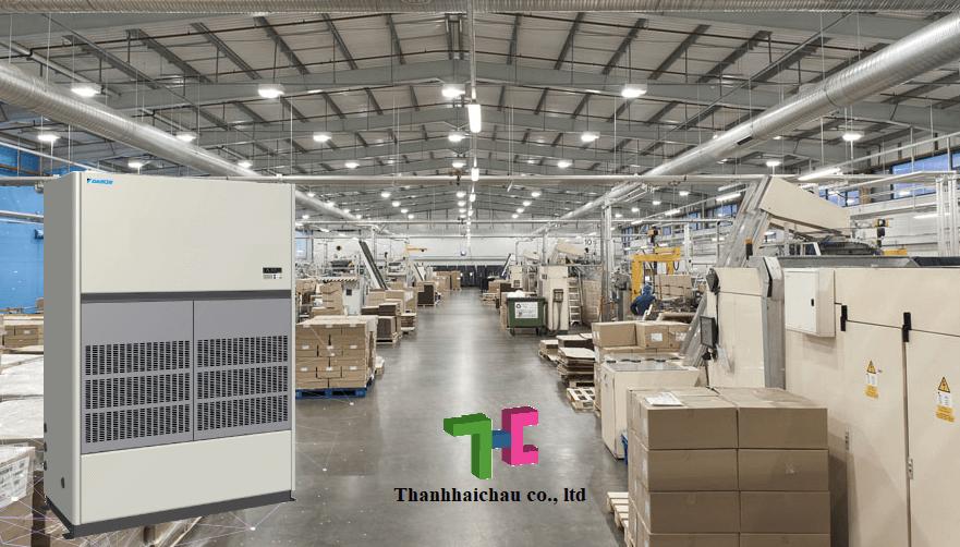 Máy lạnh tủ đứng Daikin nối ống gió inverter công suất lớn cho nhà xưởng