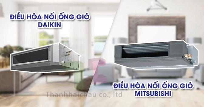 So sánh điều hòa giấu trần Mitsubishi FDUM71CR-S5 và Daikin FBFC50DVM9 2 HP
